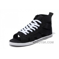 CONVERSE Open Toe Black Elastic Band Summer All Star Roman Sandals Super Deals
