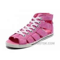 Pink CONVERSE All Star Roman Shoes By Avril Lavigne Canvas Authentic
