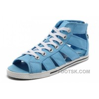 Blue All Star CONVERSE Roman Shoes By Avril Lavigne Canvas Free Shipping