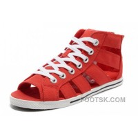 Black Friday Deals Red CONVERSE Roman All Star Shoes By Avril Lavigne Canvas