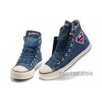 Authentic Blue CONVERSE Superman Chuck Taylor All Star Canvas Shoes