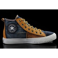 CONVERSE Iron Man Design Style The Avengers Comics High Tops Brown Yellow Stitching Canvas Sneakers Hot
