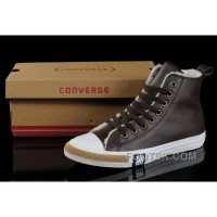 Discount Brown Soft Nap CONVERSE Winter All Star Shearling Leather Shoes