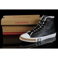 For Sale Black Soft Nap CONVERSE Winter All Star Shearling Leather Shoes