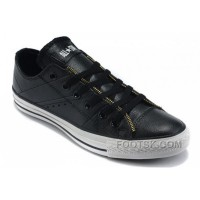 Black Leather CONVERSE By John Varvatos Double Zipper Oxford Winter Chuck Taylor All Star Tops Sneakers Lastest