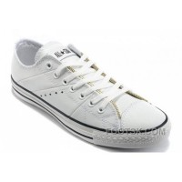 White Leather CONVERSE By John Varvatos Double Zipper Oxford Winter Chuck Taylor All Star Tops Sneakers Discount