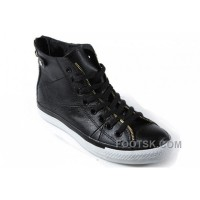 Black Leather CONVERSE Double Zipper John Varvatos Oxford Winter Chuck Taylor All Star High Tops Sneakers Authentic