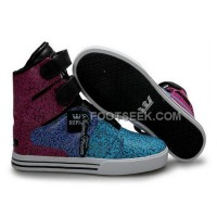 Discount Supra TK Society Blue Purple Red Men's Shoes