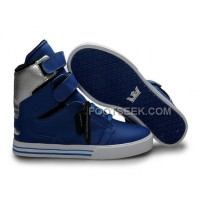 Discount Supra TK Society Blue Silver Men's Shoes