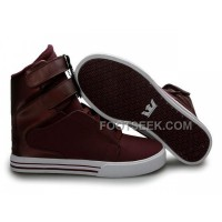 Discount Supra TK Society Dark Red Men's Shoes