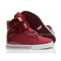 Discount Supra TK Society Dark Red Shiny Men's Shoes