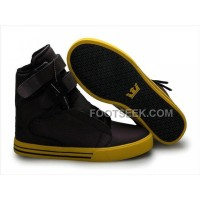 Discount Supra TK Society Dark Red Yellow Men's Shoes