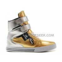 Discount Supra TK Society Gold Silver Men's Shoes