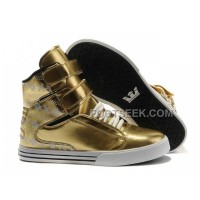 Discount Supra TK Society Gold Snowflake Men's Shoes