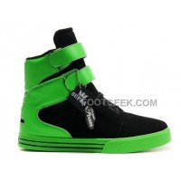Discount Supra TK Society Green Black Men's Shoes