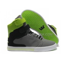 Discount Supra TK Society Grey Black Green Men's Shoes
