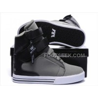 Discount Supra TK Society Grey Black Men's Shoes
