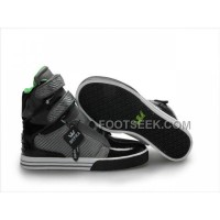 Discount Supra TK Society Grey Green Black Men's Shoes