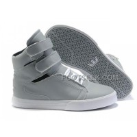 Discount Supra TK Society Grey White Men's Shoes