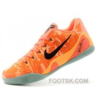 Nike Kobe Bryant 9 Premium Orange Mens Low Basketball Shoes Best