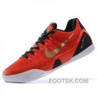 Nike Kobe Bryant 9 EM China Park Mens Red Low Basketball Shoes Best