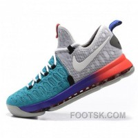 Kevin Durant Nike KD 9 Agate Green/Grey Basketball Shoes For Sale