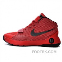 Nike KD 8 Simple Full Red Basketball Shoes Free Shipping