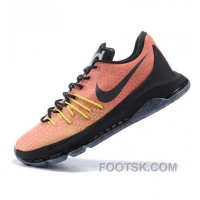 Nike Kevin Durant KD VIII Orange Black Basketball Shoes Online