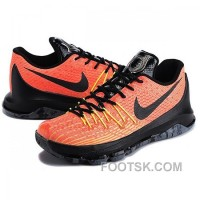 Nike Kevin Durant KD 8 Orange Black Shoes Copuon Code