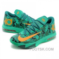 Nike Kevin Durant KD VI CAMO Green Basketball Shoes Best