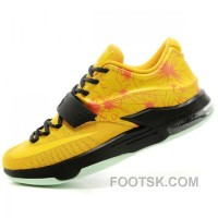 Nike Kevin Durant KD7 N7 Mens Yellow Basketball Shoes Authentic