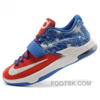 Nike Kevin Durant KD7 N7 Mens Blue Basketball Shoes Discount