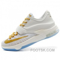 Nike Kevin Durant KD7 N7 Mens White Basketball Shoes New Style