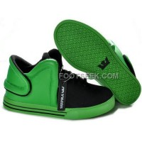 For Sale Supra Falcon Black Green Men's Shoes