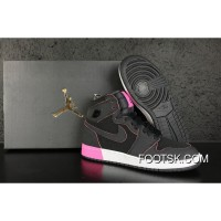 Best Air Jordan 1 High GS Black Pink White