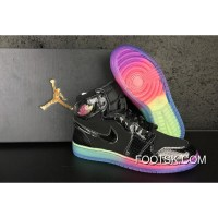 "Best Air Jordan 1 Retro High GS ""Rainbow Sole"""