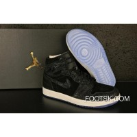 "Air Jordan 1 Retro High ""Heiress"" Black/White Velvet Authentic"