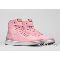 "Air Jordan 1 High GS Decon ""Easter"" Light Pink/White-Vachetta Tan Authentic"