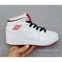Air Jordan 1 Mid GS White/Gym Red/Black Copuon Code