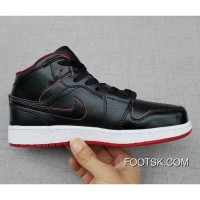 "Air Jordan 1 Mid GS ""Lance Mountain"" Black/Black-White-Gym Red Copuon Code"