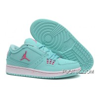 Girls Air Jordan 1 Low Aquamarine Pink Shoes For Sale