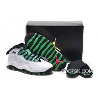 "Top Deals Girls Air Jordan 10 Retro ""Verde"""