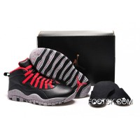 "Online Girls Air Jordan 10 ""PSNY"" X Public School Black-Grey/Gym Red"