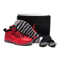 "New Release Girls Air Jordan 10 ""Bulls Over Broadway"" Shoes"