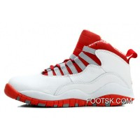Air Jordan 10 Retro White/Varsity Red-Light Steel Grey Copuon Code R66a5