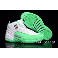 2016 Air Jordan 12 GS White Green Authentic