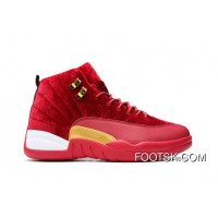 Air Jordan 12 GS Red Velvet-Gold Copuon Code SanexH