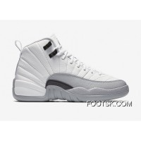 "New Air Jordan 12 ""Barons""-Wolf Grey/White - Release Free Shipping AkN2pn"