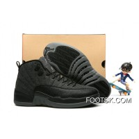 "Air Jordan 12 ""Wool"" Dark Grey Black Metallic Silver - Release New Style 3BWxY"
