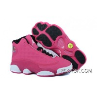 Cheap To Buy Girls Air Jordan 13 Retro Fusion Pink/Black-White